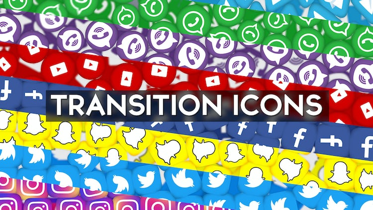 Social Icon Transition Pack: After Effects Templates