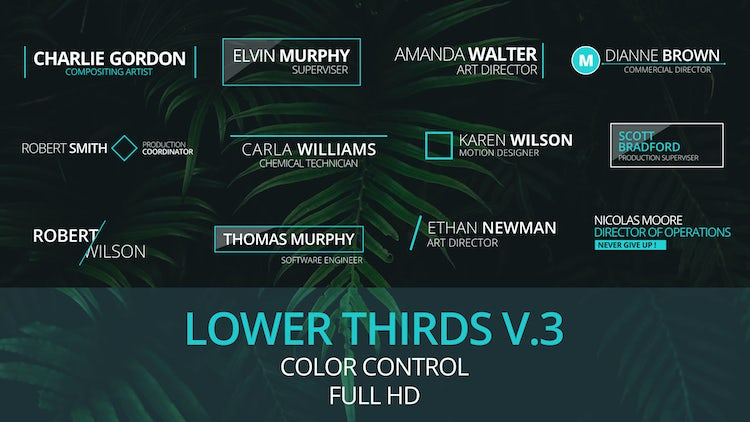 Lower Thirds v.3: After Effects Templates