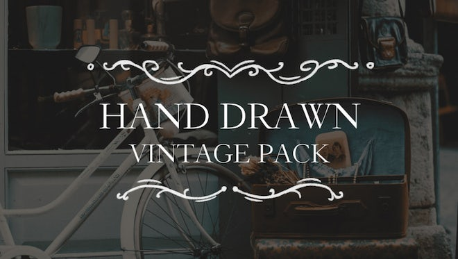 Hand Drawn Vintage Pack: Premiere Pro Templates