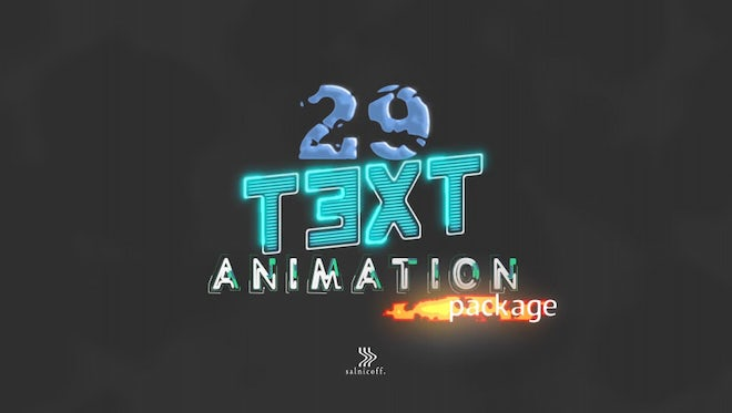 Animated Text Titles: After Effects Templates