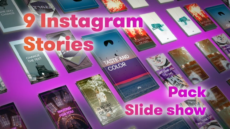 Instagram Stories Slideshow Pack: After Effects Templates