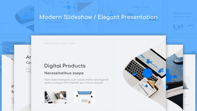 Modern Slideshow / Elegant Presentation: Premiere Pro Templates