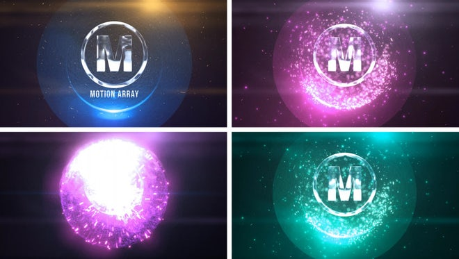 Sphere Particles Logo: After Effects Templates