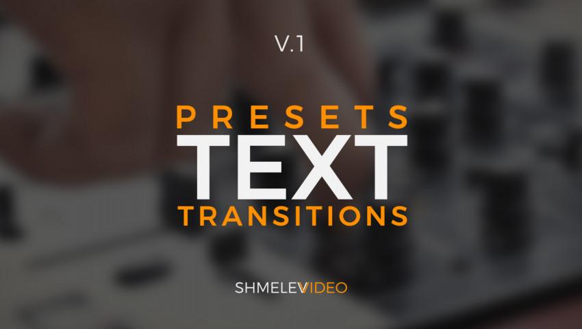 Lens Text Transitions Presets V.1 161386