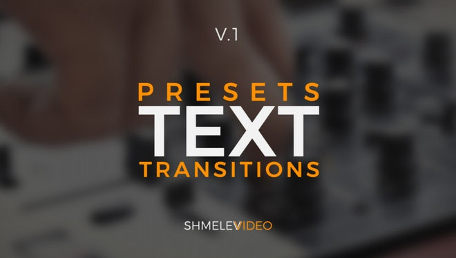 Text Transitions Presets V.1: Premiere Pro Presets