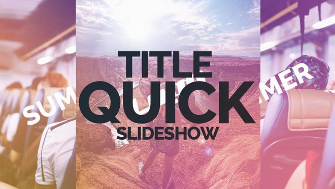 Title Quick Slideshow: Premiere Pro Templates