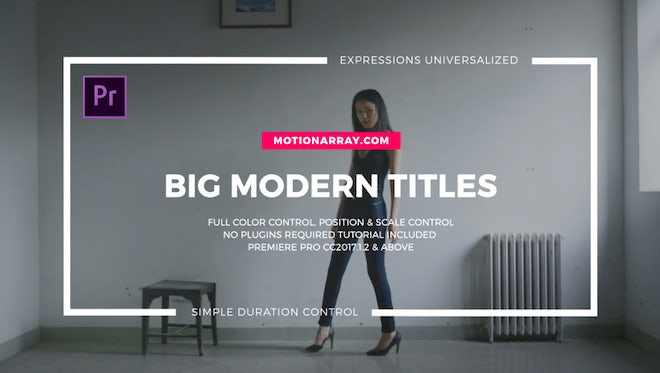 Big Typo Titles I Essential Graphics: Motion Graphics Templates
