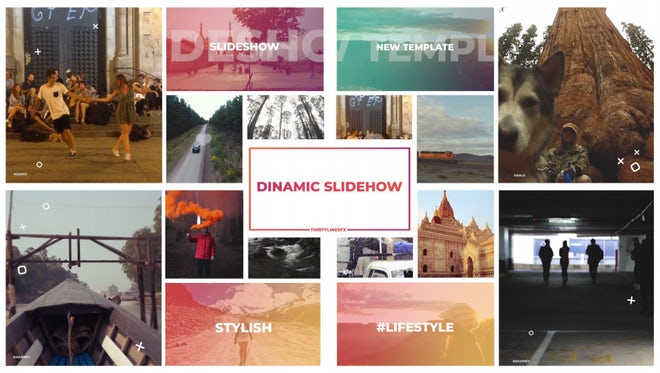 Colorful Dynamic Slideshow: Premiere Pro Templates