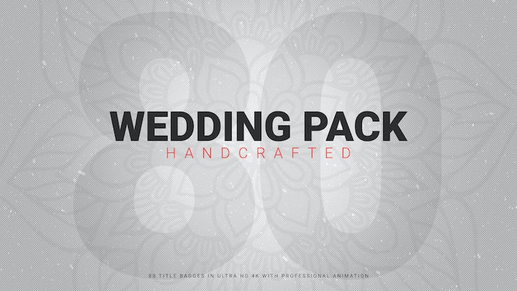 Wedding Pack 80+ Handcrafted: After Effects Templates