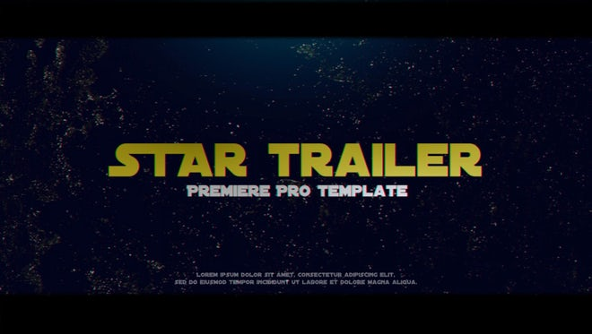Star Trailer: Premiere Pro Templates