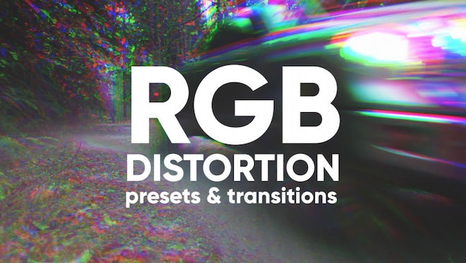 RGB Distortion Presets And Transitions: Premiere Pro Presets