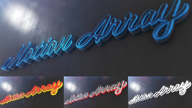 Neon Metal Logo: After Effects Templates