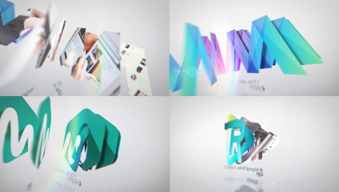 Clean And Simple Logo Reveal Bundle: After Effects Templates