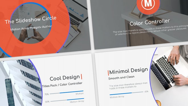 The Slideshow Circle / Presentation: After Effects Templates