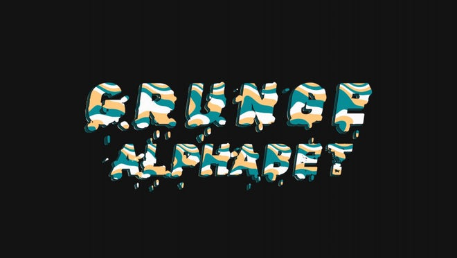 Grunge Alphabet: Stock Motion Graphics