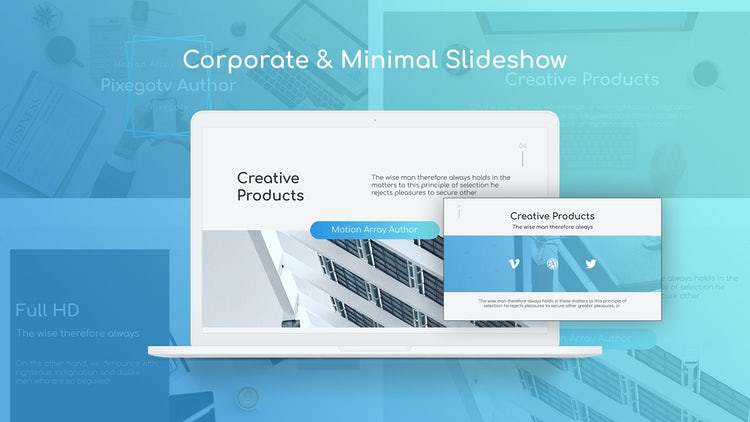 Corporate & Minimal Slideshow: Premiere Pro Templates