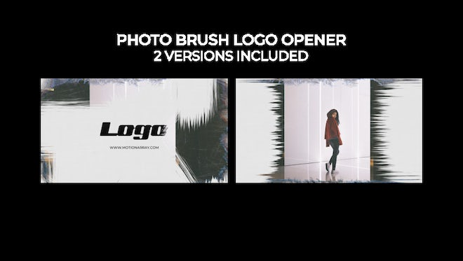 Photo Brush Logo Opener: Premiere Pro Templates