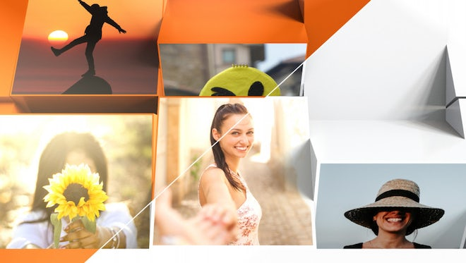 Mosaic Block Slideshow: After Effects Templates