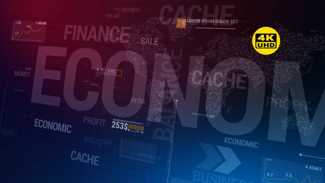 Moving Business/ Economics Background: Stock Motion Graphics
