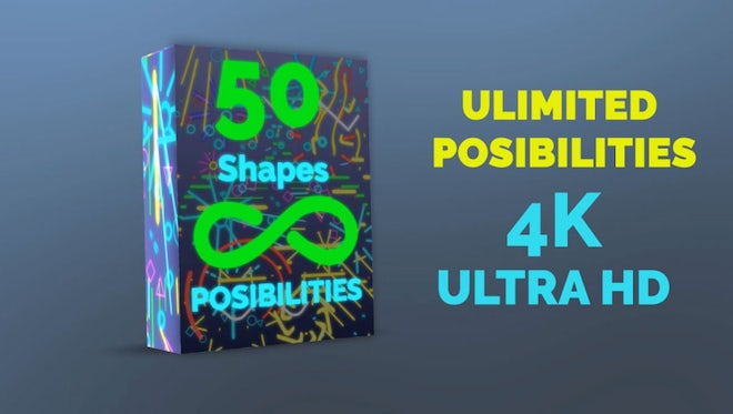 Shape Possibilities 4K Pack: Stock Motion Graphics
