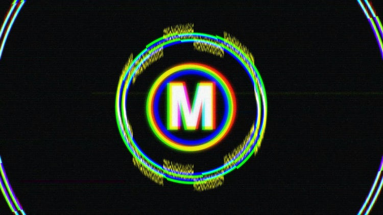 Circle Glitch Logo: After Effects Templates