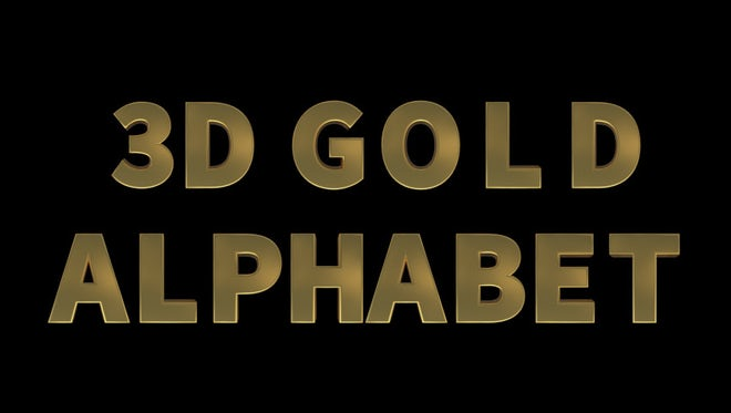 3D Gold Alphabet Pack: Stock Motion Graphics