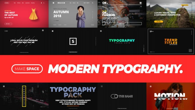 Modern Typography 1.0: After Effects Templates