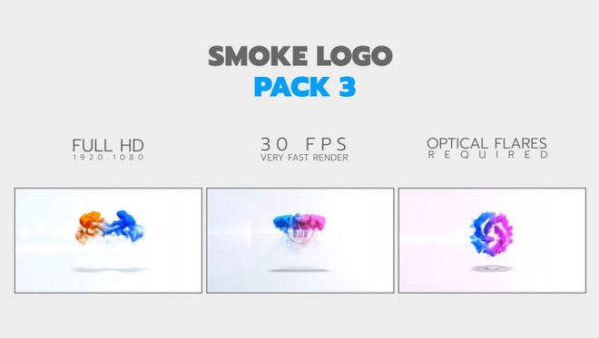 Smoke Logo Pack: After Effects Templates