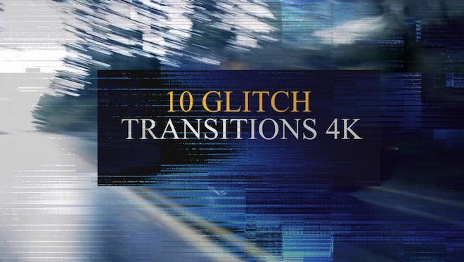 Glitch Transitions 4K Pack: Stock Motion Graphics
