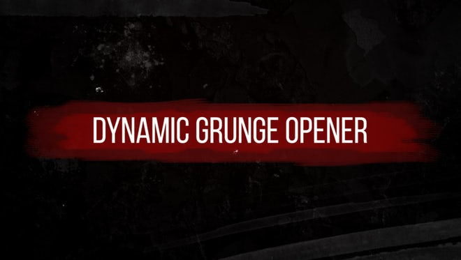 Dynamic Grunge Opener: After Effects Templates
