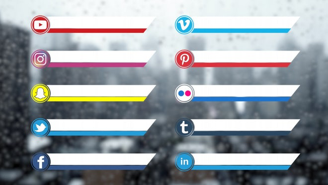 Social Media Lower Thirds Pack: Stock Motion Graphics