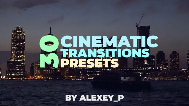 Cinematic Transitions Presets: Premiere Pro Presets