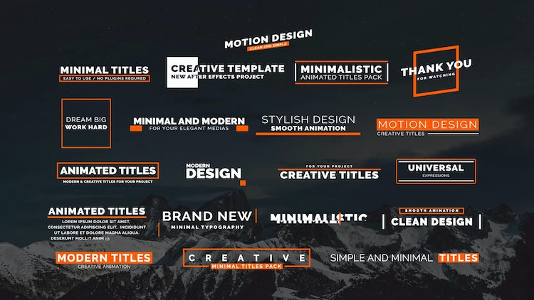 20 Animated Titles II: After Effects Templates