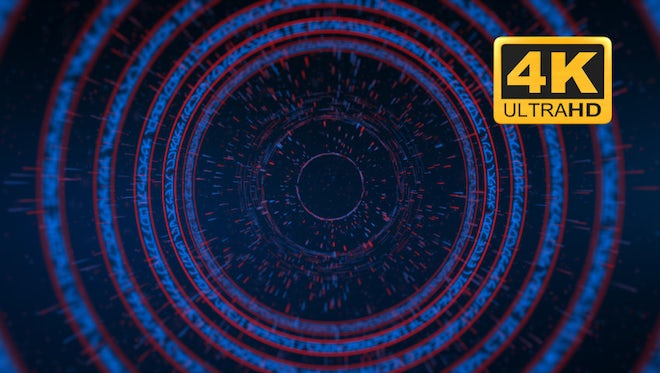 Katakana Cyber Tunnel - Looped: Stock Motion Graphics