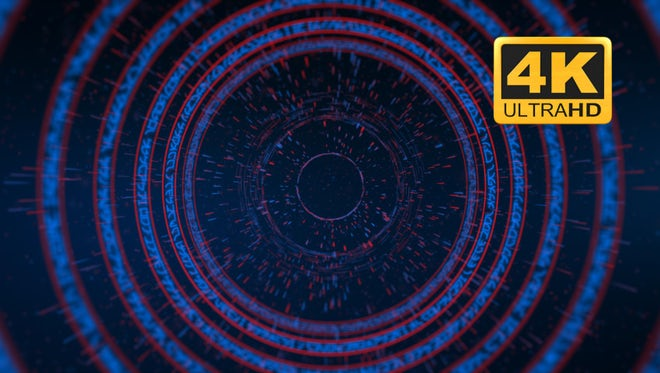 Katakana Cyber Tunnel - Looped: Stock Motion Graphics
