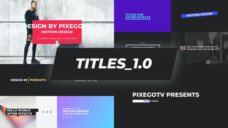 The Titles / Typography Pack: After Effects Templates