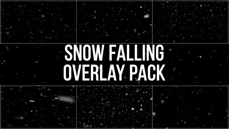 Snow Falling Overlay Pack: Stock Motion Graphics