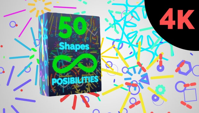 Shape  BIG Pack 4K: Motion Graphics Templates
