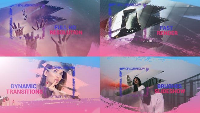 Brushes Slideshow: After Effects Templates