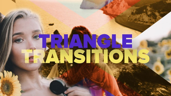 Modern Triangle Transitions: After Effects Templates