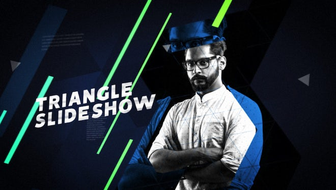 Triangle Slideshow: After Effects Templates