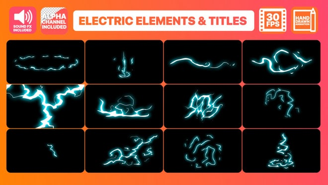 Flash FX Electric Elements And Titles: After Effects Templates
