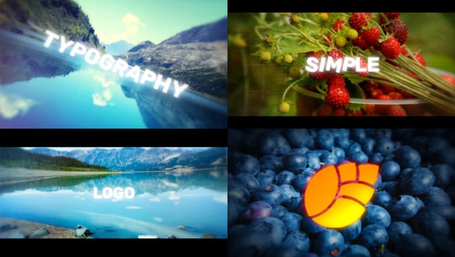 Photo and Typography Logo Reveal: After Effects Templates
