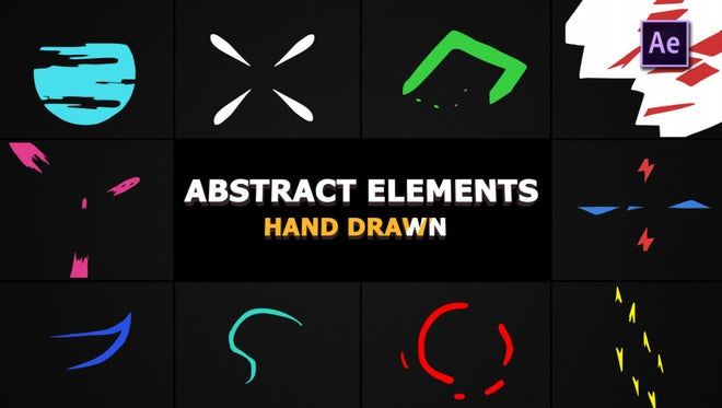 Flash FX Abstract Elements: After Effects Templates