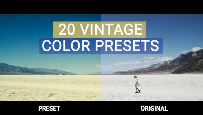 Vintage Presets: Premiere Pro Presets
