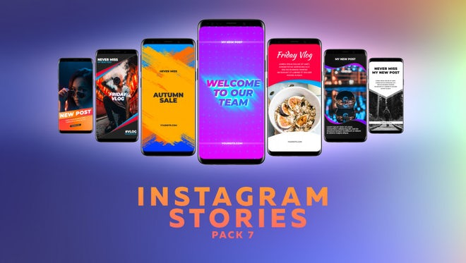 Instagram Stories Pack 7: Motion Graphics Templates