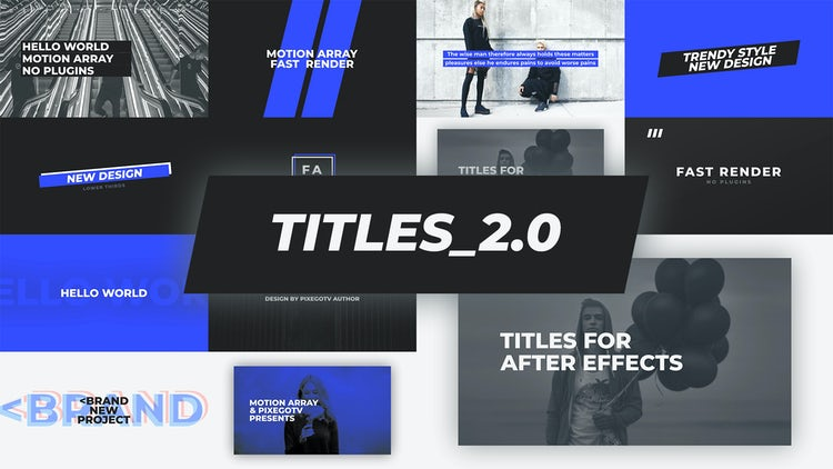 The Titles v2.0 / Typography Pack: After Effects Templates