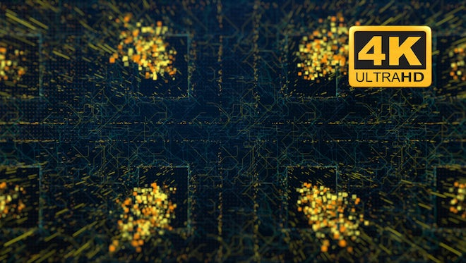Abstract Circuit Backgrounds - Looped Pack: Stock Motion Graphics
