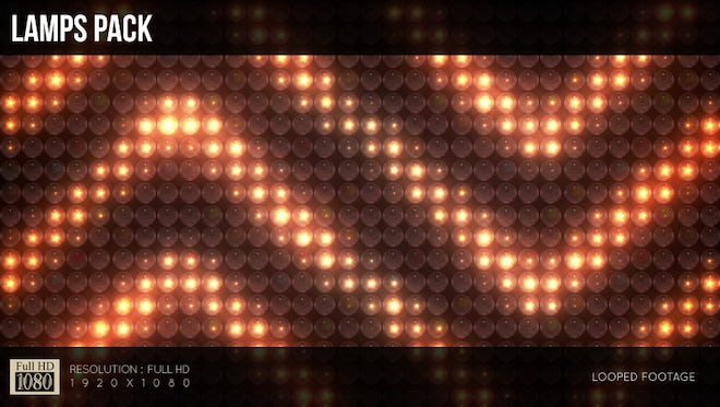 LED Lights Patterns Background Pack: Stock Motion Graphics
