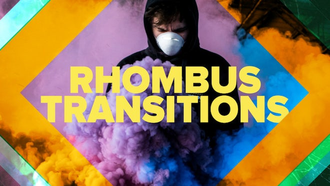 Modern Rhombus Transitions: After Effects Templates